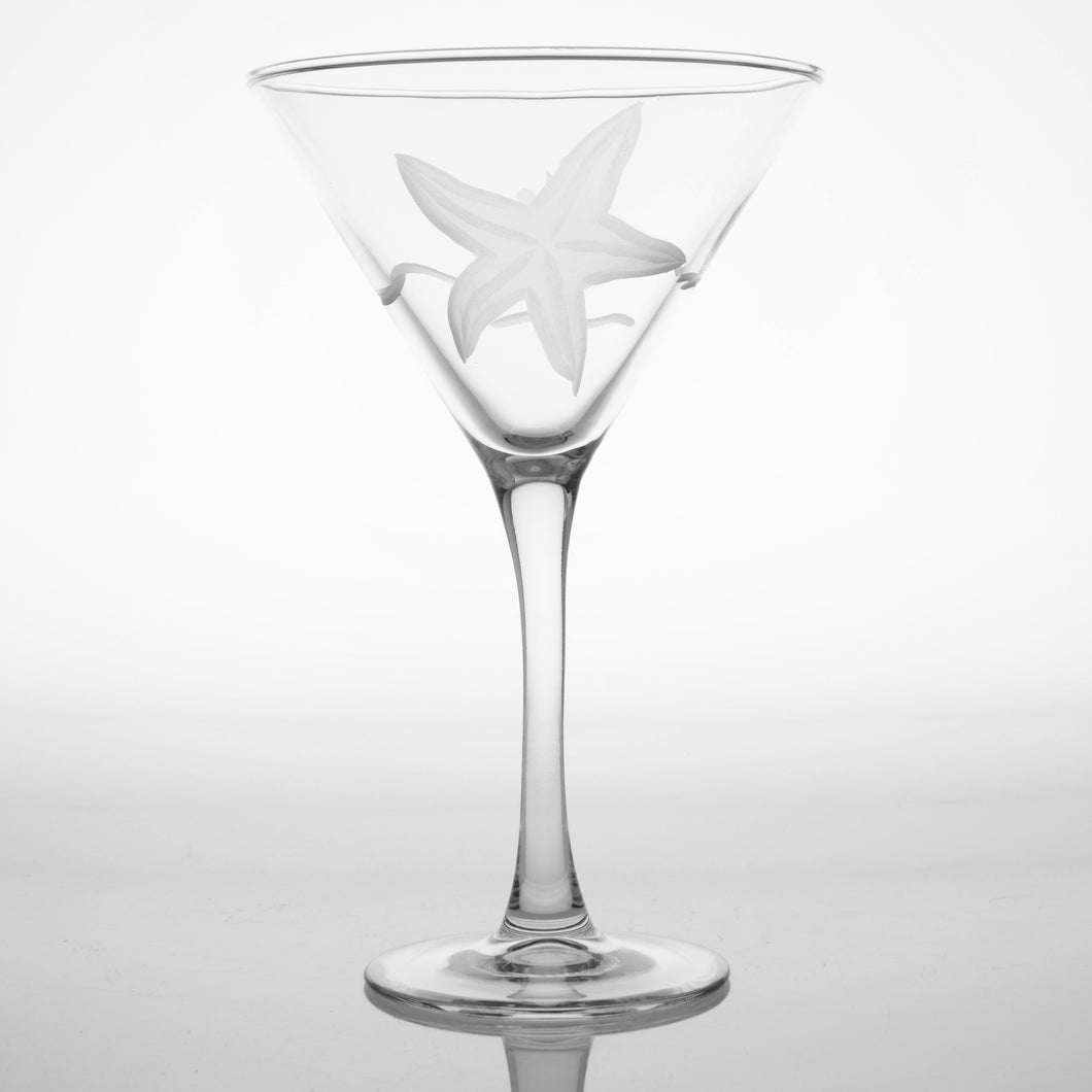 Starfish 10 oz. Martini Glasses -Set of 4 - MaisonBeach