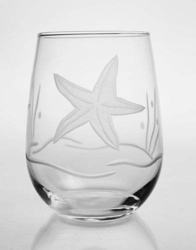 Starfish 17oz. Stemless Wine Goblet -Set of 4