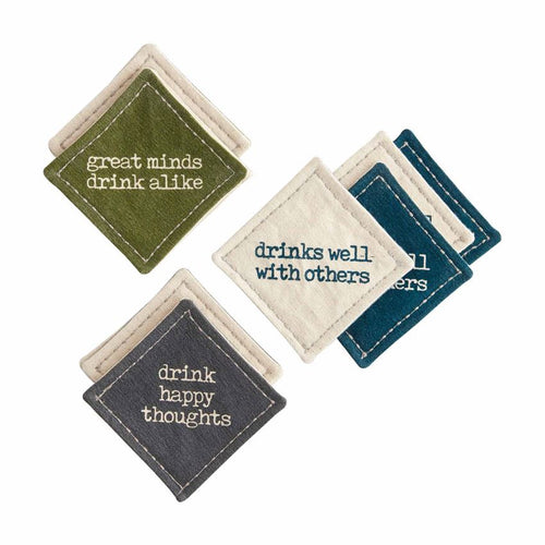 Canvas Coasters Set of 4