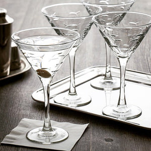 School of Fish 10oz. Martinis-Set of 4 - MaisonBeach