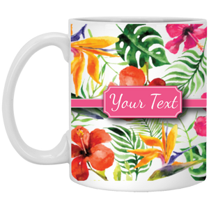 Hibiscus Custom Mug-11 oz - MaisonBeach