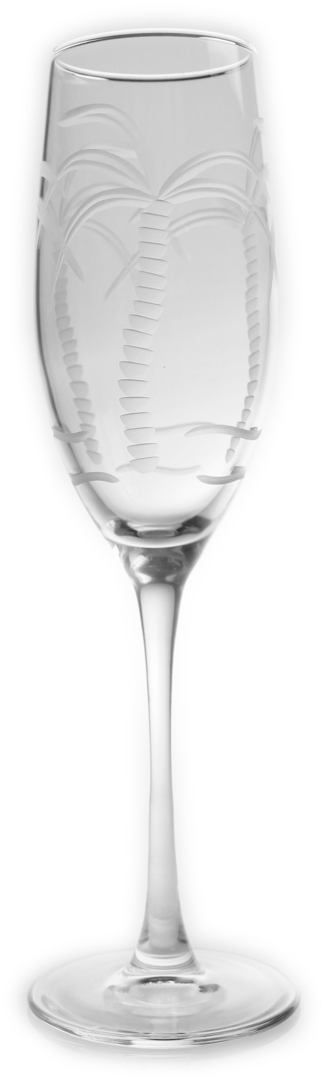 Palm Tree 8oz Champagne Flutes-Set of 4 - MaisonBeach