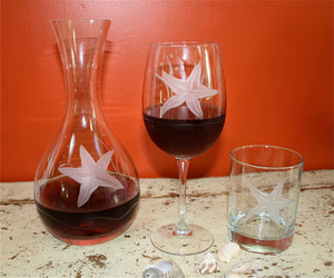 Starfish 18oz. All Purpose Wine Glass-Set of 4
