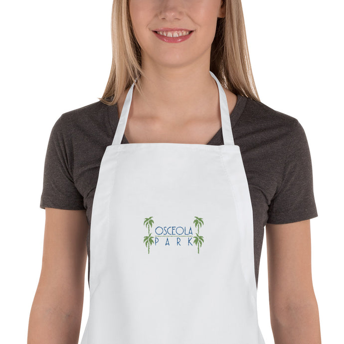 Osceola Park Embroidered Apron - MaisonBeach