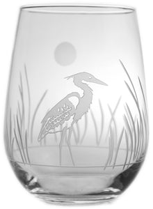 Heron 17oz. Stemless Wine Goblets-Set of 4 - MaisonBeach