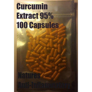 Curcumin Extract 95% 100 Capsules - High Quality Extract