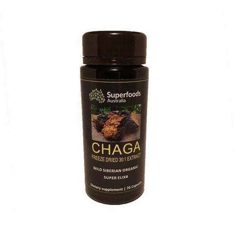 Freeze Dried Siberian Chaga Mushroom Capsules