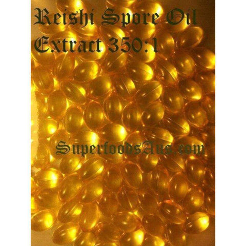 Image of Organic Reishi Mushroom Spore Oil Extract 50 Capsules
