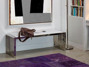 Katie Bench - White - Affordable Modern Furniture at By Design