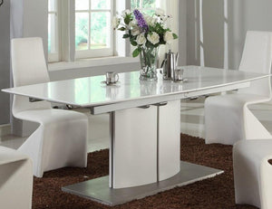 Albi Dining Table - White + bydesigntexas.com
