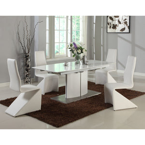 Albi Dining Table Set - White + bydesigntexas.com