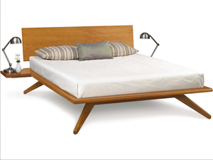 Astrid Bed with Two Shelf Nightstands and Single Adjustable Headboard by Copeland Furniture (In-stock) - Affordable Modern Furniture at By Design