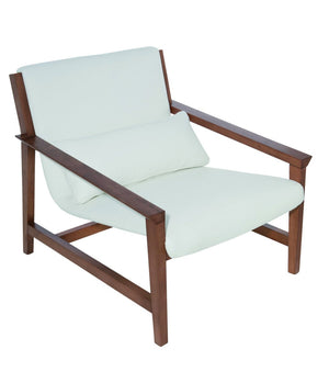 Bethany Lounger in White Leather by Nuevo - HGSD467