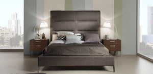 Brighton Upholstered Platform Bed Queen & King Size + 2 colors