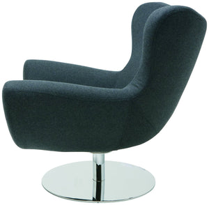 Conner Lounge Chair in Dark Grey Wool Upholstery by Nuevo - HGDJ755