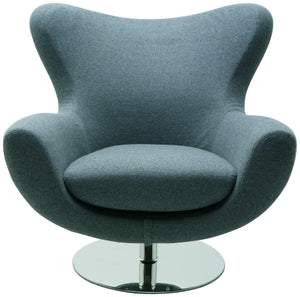 Conner Lounge Chair in Light Grey Wool Upholstery by Nuevo - HGDJ754