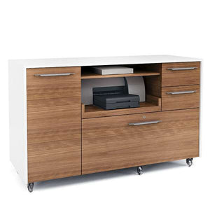 Format Mobile 6320 Credenza by BDi - Walnut White