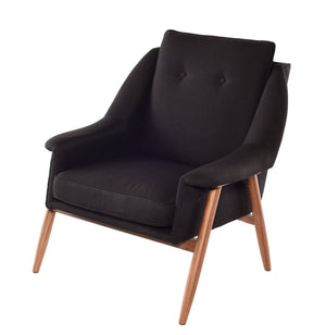 Grace Occasional Chair in Walnut by Nuevo + 4 colors - Affordable Modern Furniture at By Design