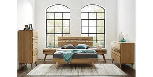 Azara Bed Frame Queen / King / Cal King - Caramelized Finish - Affordable Modern Furniture at By Design