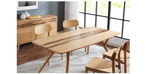 Azara Dining Table by Greenington - Caramelized Bamboo - Affordable Modern Furniture at By Design