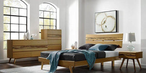 Azara Bedroom Furniture Set - Caramilized Finish + bydesigntexas.com