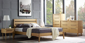 Sienna Platform Bed Set by Greenington - Caramelized - Queen / King - Affordable Modern Furniture at By Design