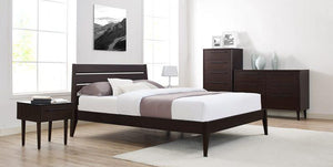 Sienna Platform Bed by Greenington - Mocha - Queen / King