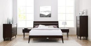 Sienna Platform Bed by Greenington - Mocha - Queen / King - Affordable Modern Furniture at By Design