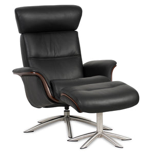 Space 55.55 High-Back Chair and Ottoman by IMG Norway - Affordable Modern Furniture at By Design