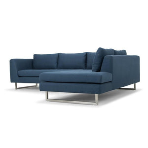 Janis Sectional Sofa in Lagoon Blue Fabric + www.bydesigntexas.com