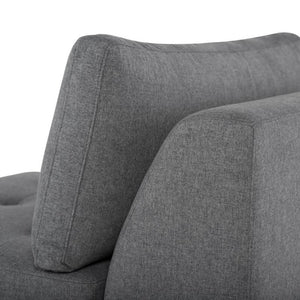 Janis Sectional Sofa + Chair in Shale Grey Velour by Nuevo