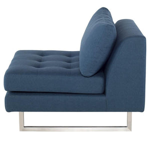 Janis Single chair in Lagoon Blue Fabric + www.bydesigntexas.com