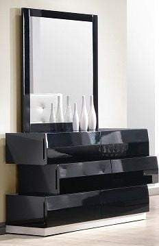 Linea Dresser + Mirror - Black - Affordable Modern Furniture at By Design