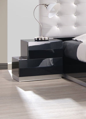 Linea Bed Nightstand - Black - Affordable Modern Furniture at By Design