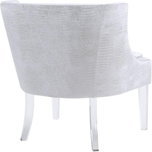 Marie Occasional Chair with Lucite Legs + 2 options