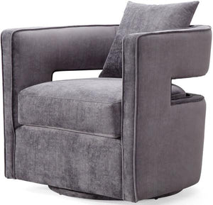 Oxford Swivel Chair in Velvet  + bydesigntexas.com