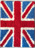 Union Jack - Pebble Chamois Rug with Shag - www.ByDesignTexas.com