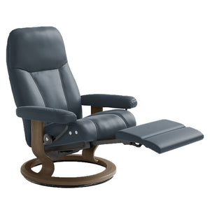 Stressless Consul Electric Recliner with LegComfort Base - Medium - Affordable Modern Furniture at By Design