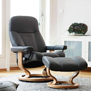 Stressless Consul Chair with Classic Base - Medium - Affordable Modern Furniture at By Design