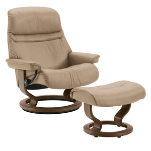 Stressless Sunrise Chair with Classic Base - Medium - ByDesignTexas.com