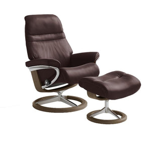 Stressless Sunrise Chair with Signature Base - Small - ByDesignTexas.com