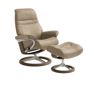 Stressless Sunrise Chair with Signature Base - Medium - ByDesignTexas.com