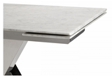 Cora Dining Table - Extendable - Marble Top - Affordable Modern Furniture at By Design