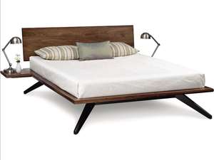 Copeland Furniture Astrid Bed with Single Panel Headboard + bydesigntexas.com
