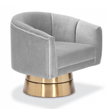 Nico Swivel Accent Chair - Grey - Affordable Modern Furniture at By Design