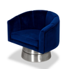 Nico Swivel Accent Chair - Blue - Affordable Modern Furniture at By Design