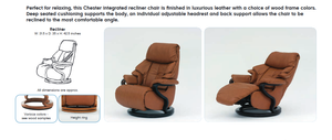 Chester Recliner Chair with Integrated Footrest by Himolla Germany