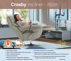 Crosby Recliner Chair with Integrated Footrest by Himolla Germany