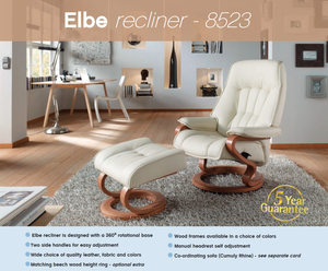 Elba Recliner Chair with Integrated Footrest + bydesigntexas.com