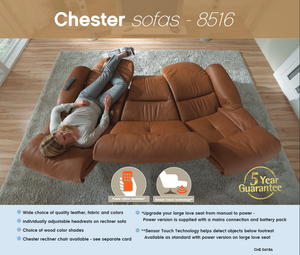 Chester Recliner Loveseat and Sofa with Integrated Footrest + bydesigntexas.com